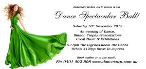 November Dance Spectacular Ball @ Legends Room the Gabba